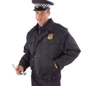 Jarná bunda s vyberateľnou vložkou, vzor Polícia