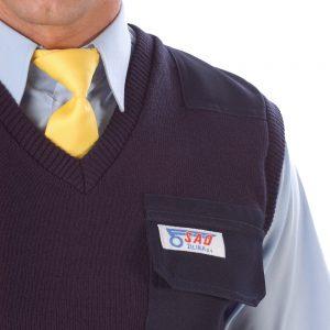Vesta pletená, tenká s aplikáciou a vreckom
