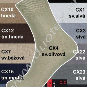 18.52 - Ponožky klasické letné 80% BA 20% PA